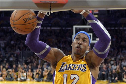 Dwight Howard spent one season with the Lakers after the Magic traded him a year ago. (AP)
