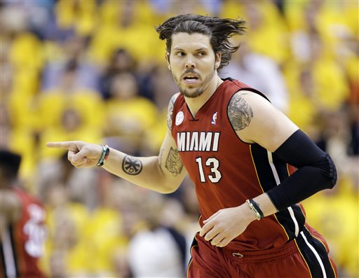 Mike Miller won back-to-back NBA championships with the Heat. (AP)
