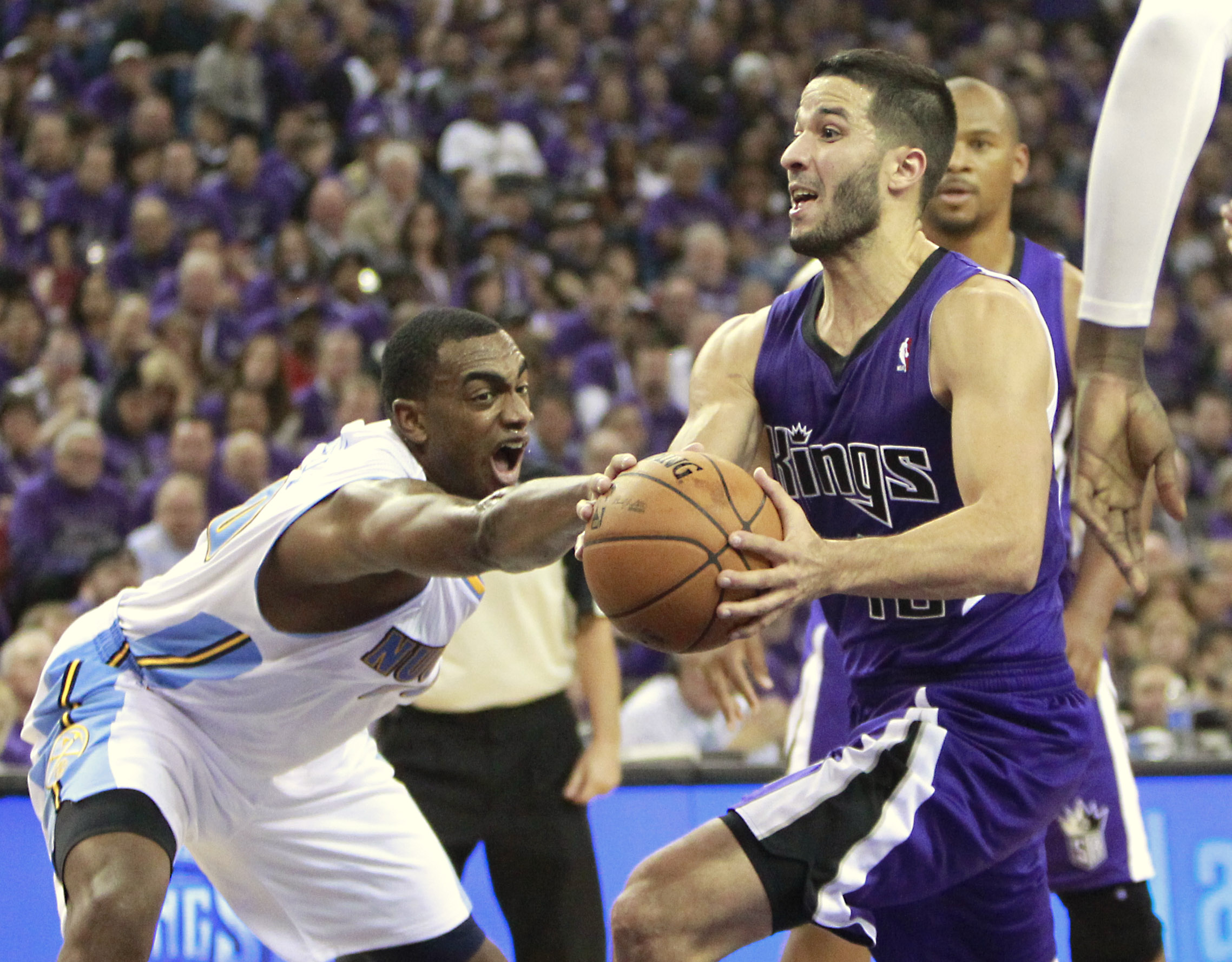 Greivis Vasquez (right) came to the Kings in a trade with the Pelicans in July. (AP)