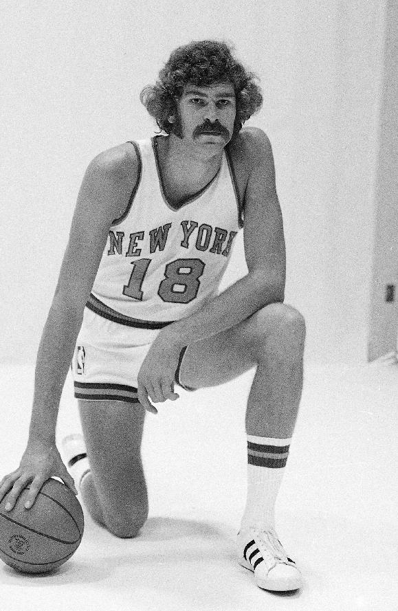 In this 1971 file photo, New York Knicks' Phil Jackson poses for a photo. Jackson has returned to the New York Knicks as their team president. The Knicks announced Jackson's hiring Tuesday, March 18, 2014, at a news conference in the lobby of Madison Square Garden, where a giant sign reading