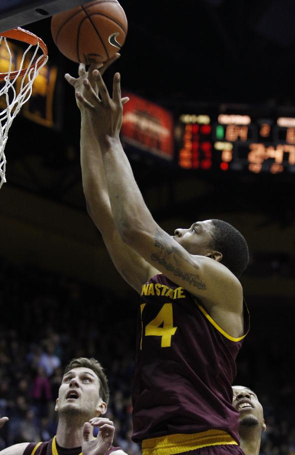 Arizona State's Jermaine Marshall shoots against California during the second half of an NCAA college basketball game, Wednesday, Jan. 29, 2014 in Berkeley, Calif