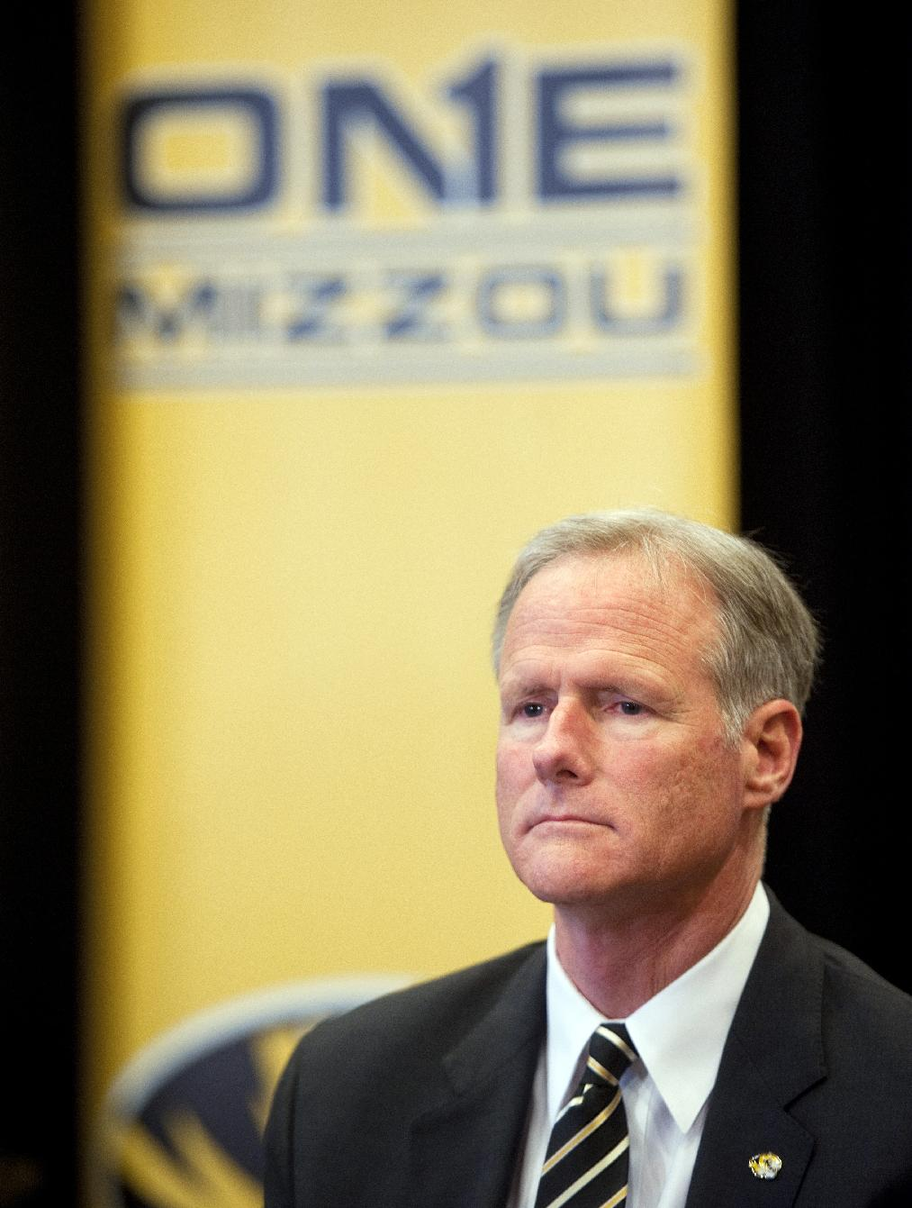 New Missouri men's basketball coach Kim Anderson waits to be introduced at an NCAA college basketball news conference in the Reynolds Alumni Center on Tuesday, April 29, 2014, in Colubia, Mo