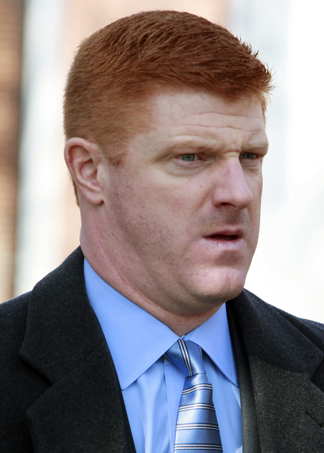 Mike McQueary is shown attending Joe Paterno's funeral. (AP)