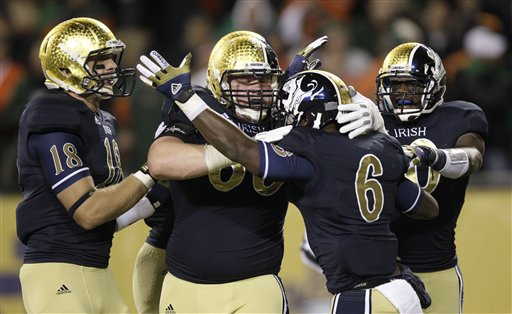 With the first BCS ranking a week away, the Irish have plenty to crow about. (AP)