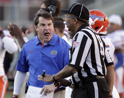 Will Muschamp has the Florida Gators fired up in his second season as head coach. (AP)