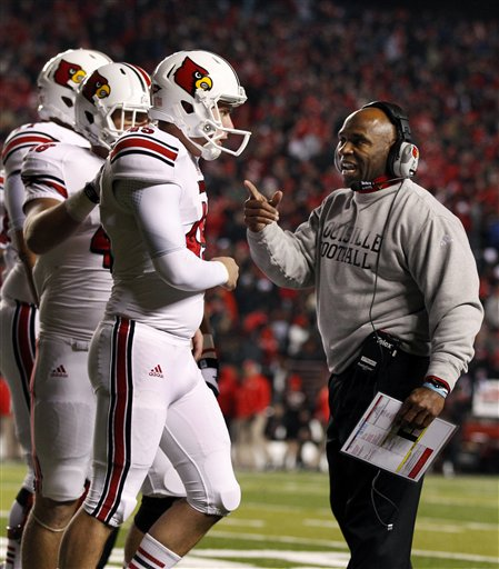 Charlie Strong guided Louisville to a 10-2 record and a berth in the Sugar Bowl. (AP)