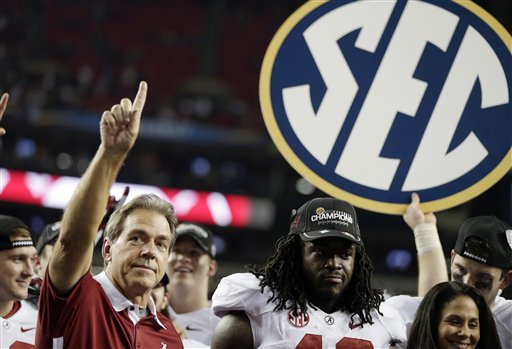 Nick Saban and Alabama are headed to the BCS title game after beating Georgia. (AP)