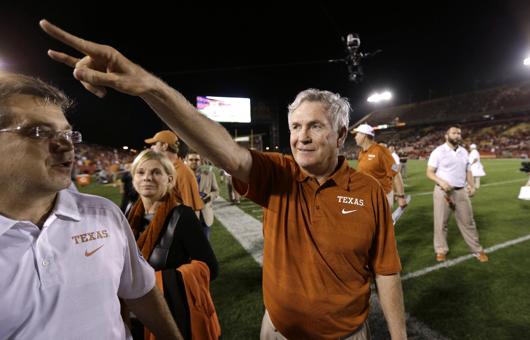 Mack Brown gives the