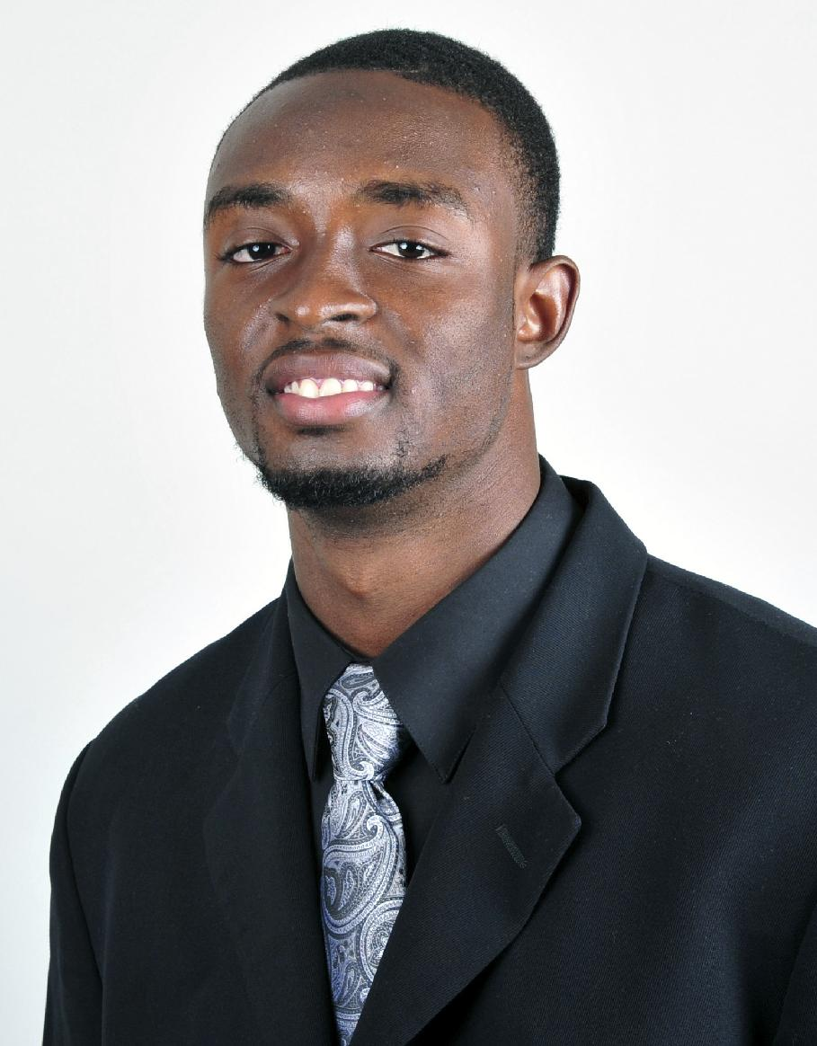This undated photo provided by the Eastern Michigan University athletics department shows college football player Demarius Reed. Reed was found shot to death early Friday, Oct. 18, 2013. Police have arrested two people in the fatal shooting, the Ypsilanti school announced Monday, Nov. 25. The university said one suspect was arraigned Sunday and the other is being arraigned Monday. The university didn't release details on the suspects, but court records obtained by MLive.com show that two 20-year-old Detroit men are charged with open counts of murder