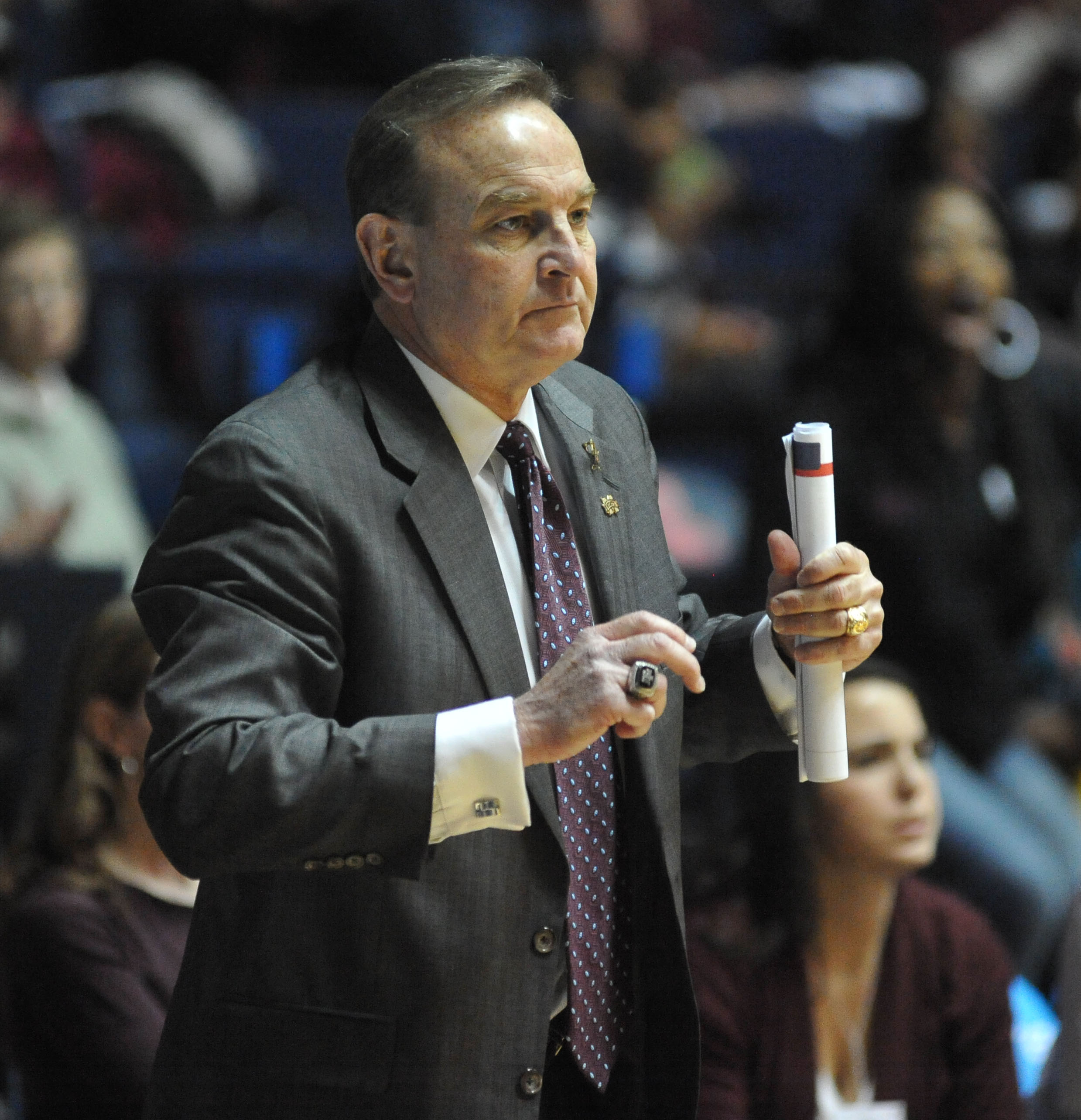 Mississippi State coach Vic Shaefer watches the action during his team's NCAA college basketball game against Mississippi on Thursday, Jan. 23, 2014, in Oxford, Miss
