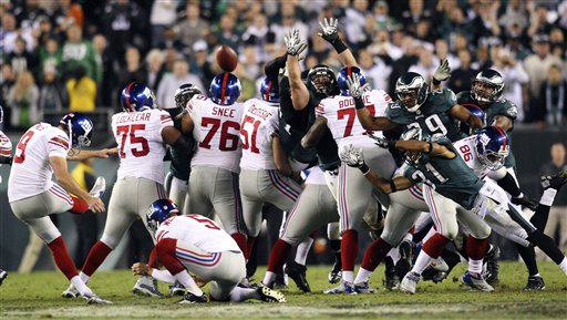 APTOPIX Giants Eagles Football