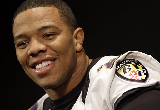 Ray Rice rushed for 1,143 yards during the regular season. (AP)