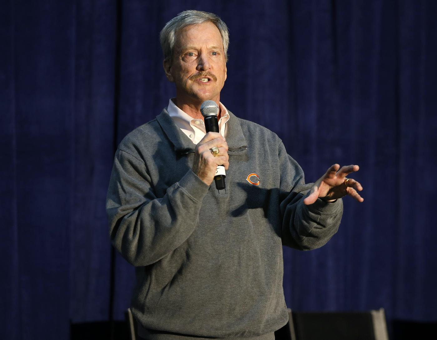 Chicago Bears chairman George McCaskey speaks during a safety clinic hosted by the NFL and the Chicago Bears for the mothers of youth football players on Tuesday, Oct. 29, 2013, at Halas Hall in Lake Forest, Ill