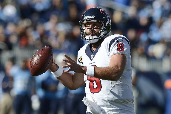 Houston Texans quarterback Matt Schaub passes against the Tennessee Titans in the first quarter of an NFL football game Sunday, Dec. 29, 2013, in Nashville, Tenn