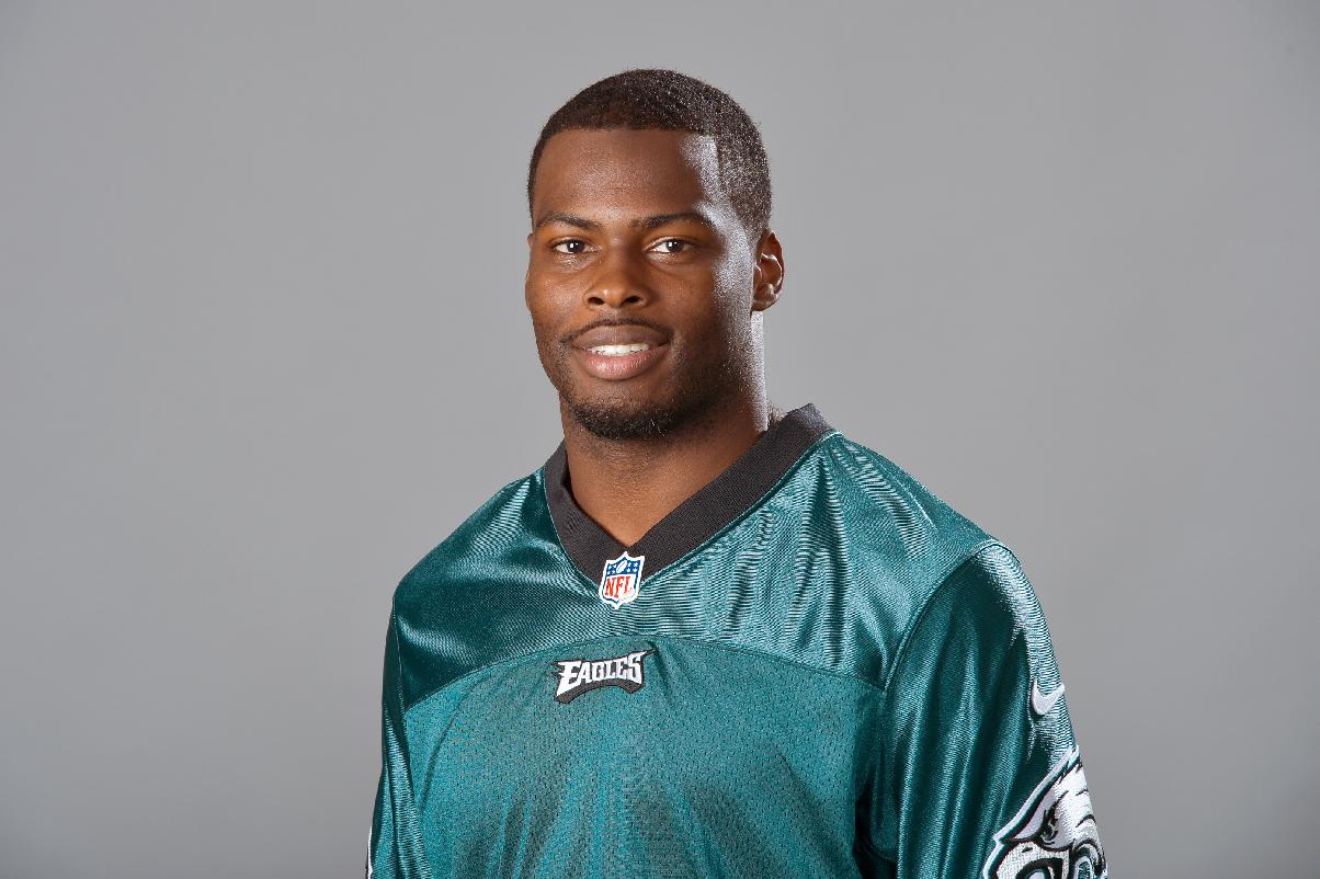 This is a 2014 file photo showing Philadelphia Eagles NFL football player Keelan Johnson.The Eagles have excused Keelan Johnson from training camp while the safety deals with his arrest last weekend in Arizona for allegedly pushing a police officer in a confrontation outside a bar.  The Eagles announced Friday, July 25, 2014, that the team will not comment further. (AP Photo)