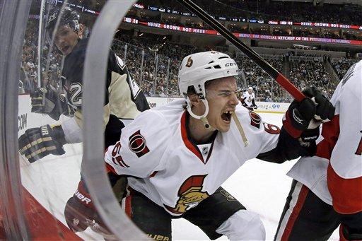 APTOPIX Senators Penguins Hockey