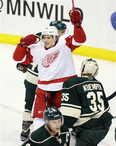 Brunner was brought to Detroit to score goals, and he's been lethal so far. (AP)