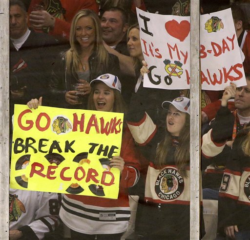 The Blackhawks have some very happy fans these days. (AP)