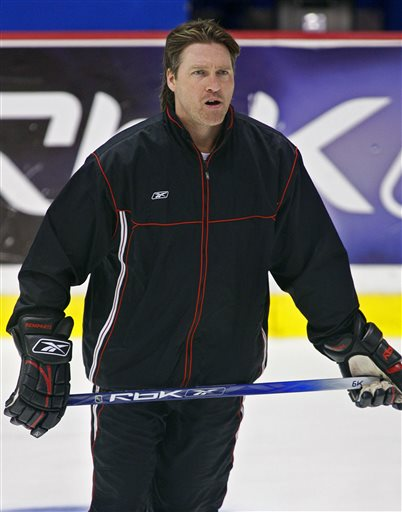 FILE- Inthis May 27, 2006, file photo, Quebec Remparts coach Patrick Roy puts his squad through hockey practice in Moncton, New Brunswick. The Colorado Avalanche announced Thursday, May 23, 2013, that they hired Patrick Roy as their new head coach