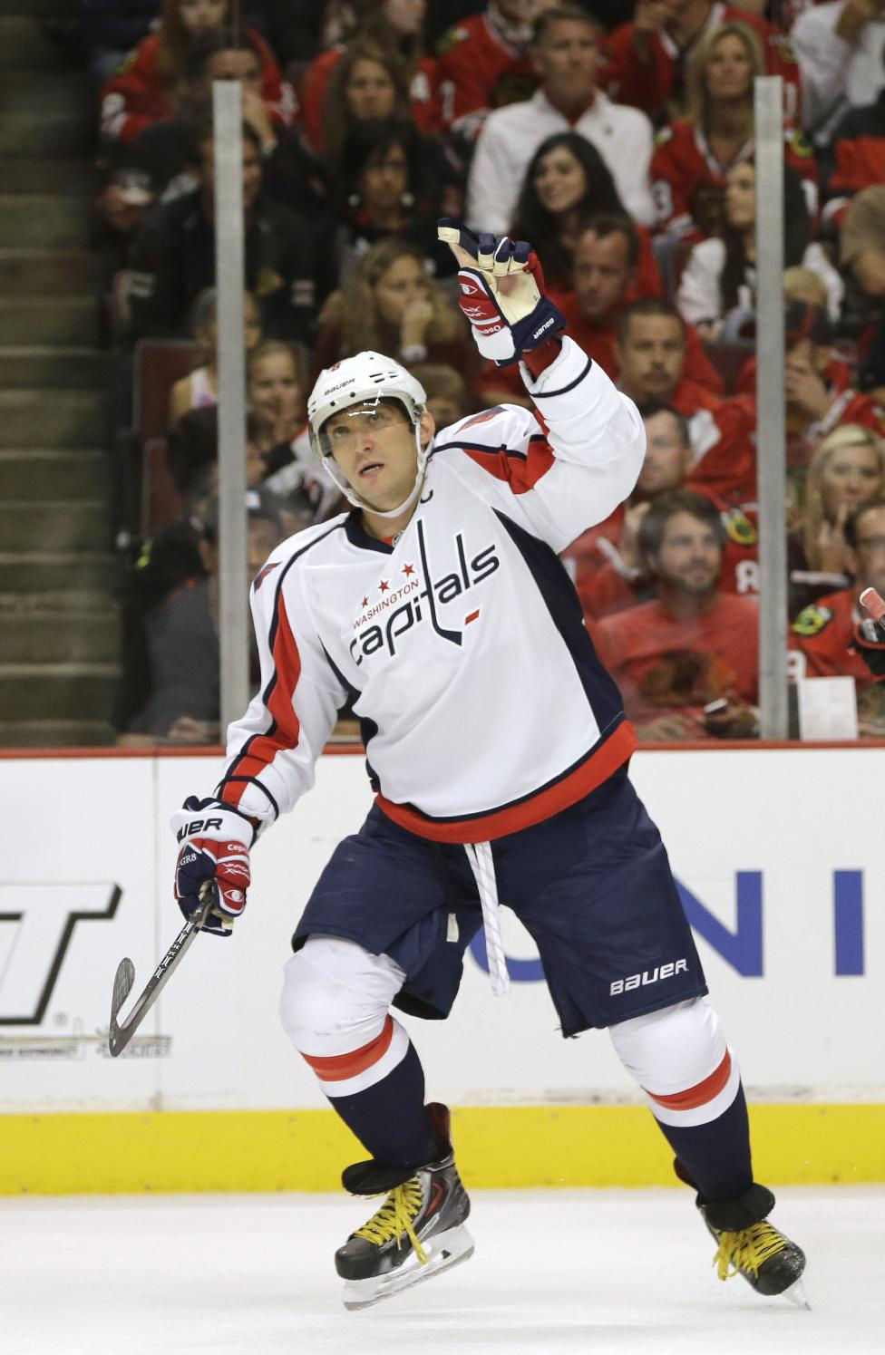 Look for Alex Ovechkin to do a lot of celebrating this season. (AP)