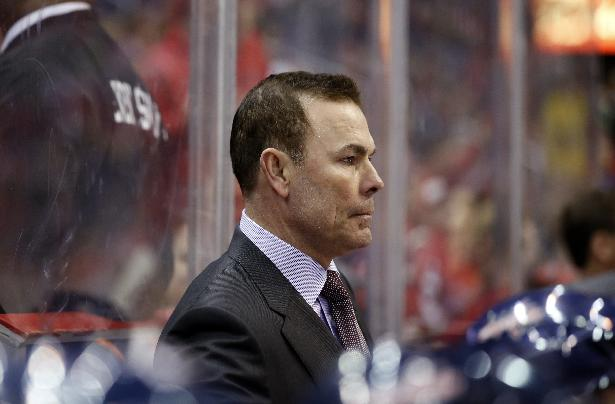 This Feb. 6, 2014 file photo shows Washington Capitals head coach Adam Oates on the bench in the third period of an NHL hockey game against the Winnipeg Jets, in Washington. Alex Ovechkin and the Washington Capitals are fading. Ovechkin has gone without a point in the last four games, and his team has lost five of its past six to drop to 10th in the Eastern Conference