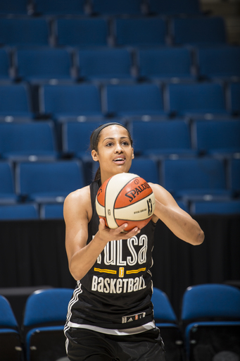 TULSA, OK - MAY 9: Skylar Diggins #4 of the Tulsa Shock shoots the ball during the team practice on May 15, 2013 at the BOK Center in Tulsa, Oklahoma.  (Photo by Shane Bevel/NBAE via Getty Images)