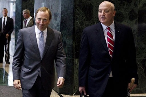 Gary Bettman and the NHL got their way with a salary cap in 2005, but will that lead to another long lockout? (Getty)