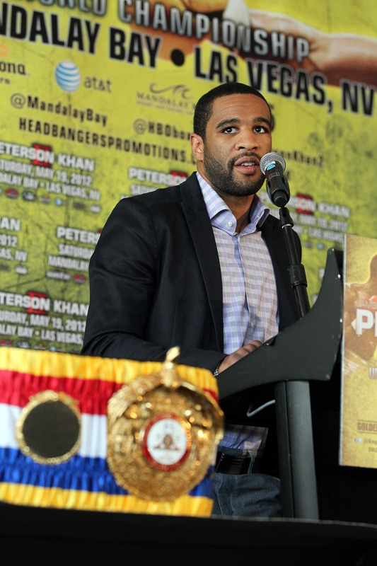 Lamont Peterson failed a drug test, putting his fight against Amir Khan in jeopardy. (Getty Images)