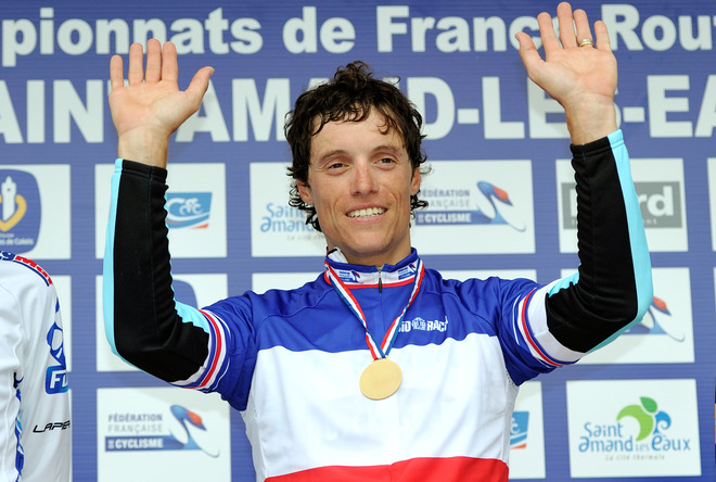 French Cyclist Sylvain Chavanel Celebrates AFP/Getty Images