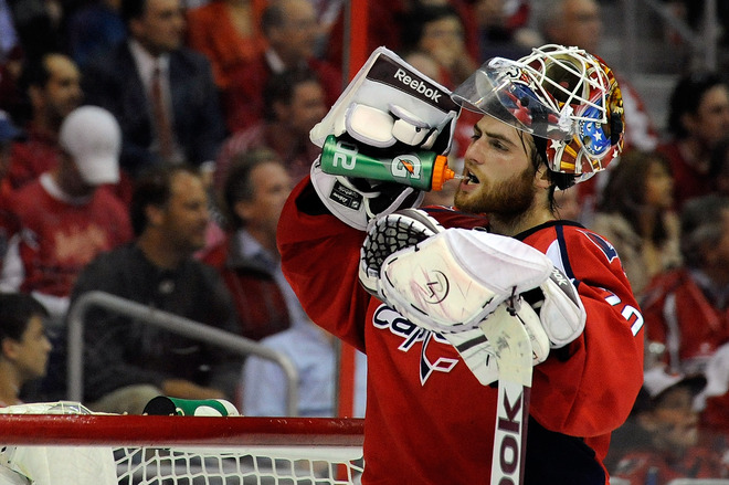 Braden Holtby credits visualization techniques and breathing exercises for his calm, cool style. (Getty)