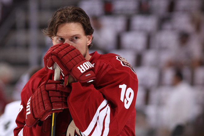 Shane Doan signed a four-year deal to remain with the Phoenix Coyotes. (Getty Images)