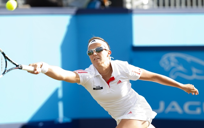 Belgium's Kristen Flipkens Returns AFP/Getty Images