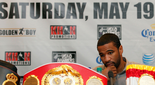 Lamont Peterson blamed a staff member for his positive drug test last month. (AFP/Getty Images)