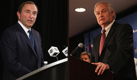 Gary Bettman and Don Fehr need to act smart and stop trying to outsmart each other. (Getty)