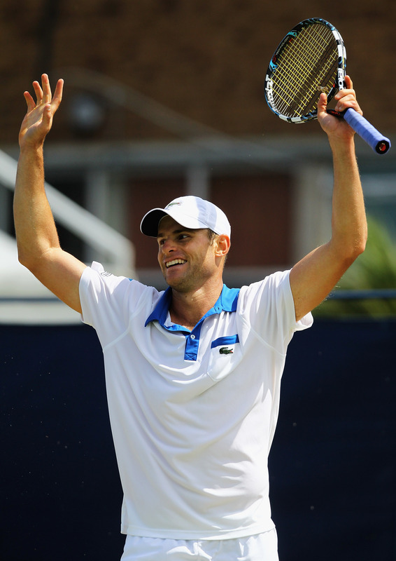   Andy Roddick Of The United States Of America Celebrates Getty Images