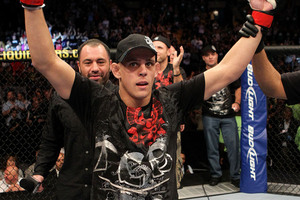 Joe Lauzon has won submission of the night in his last four UFC victories. (Getty)
