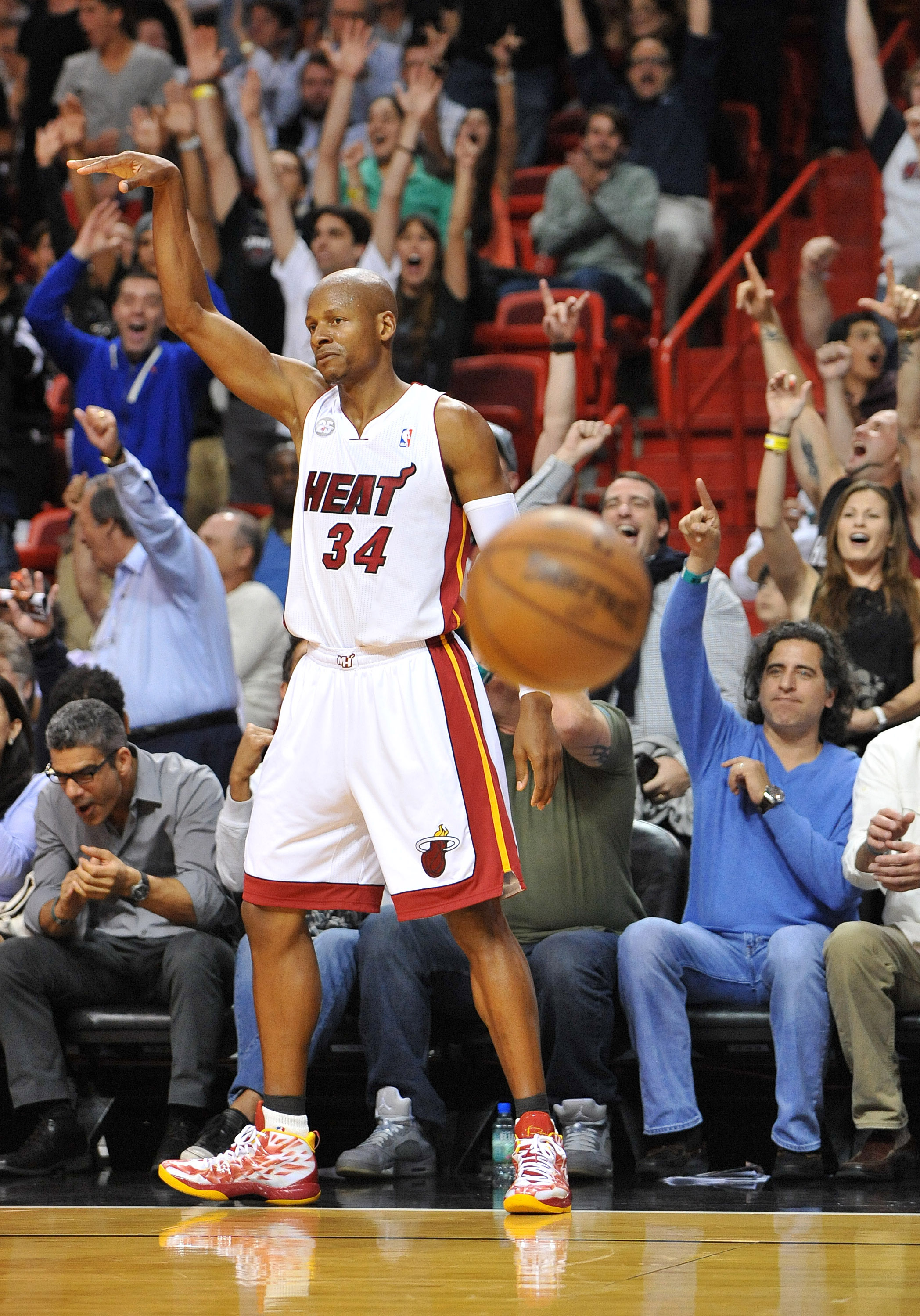 Ray Allen has embraced his role off the bench with the Heat. (USA Today Sports)