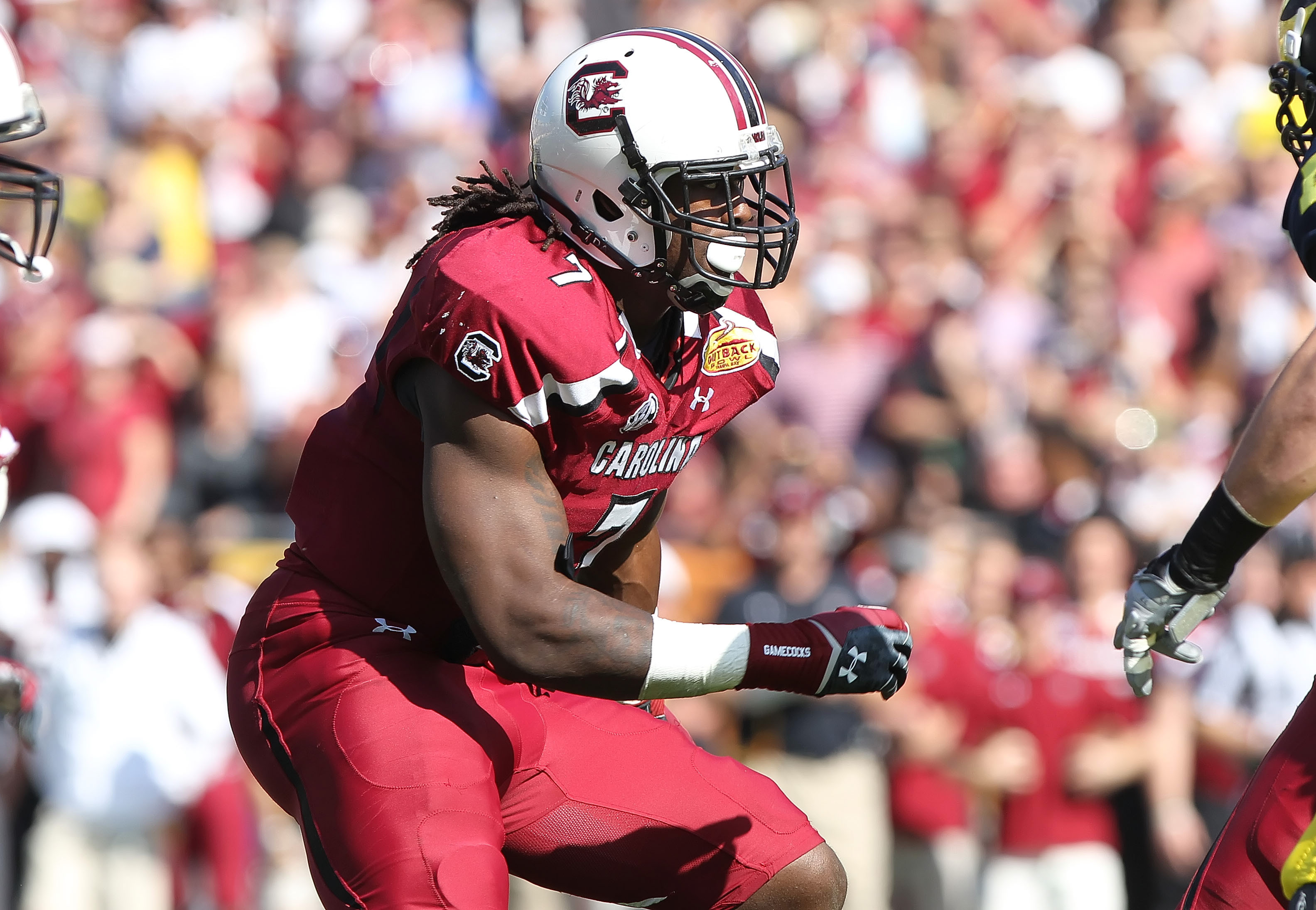 Jadeveon Clowney finished the 2012 season with 13 sacks. (USA Today Sports)