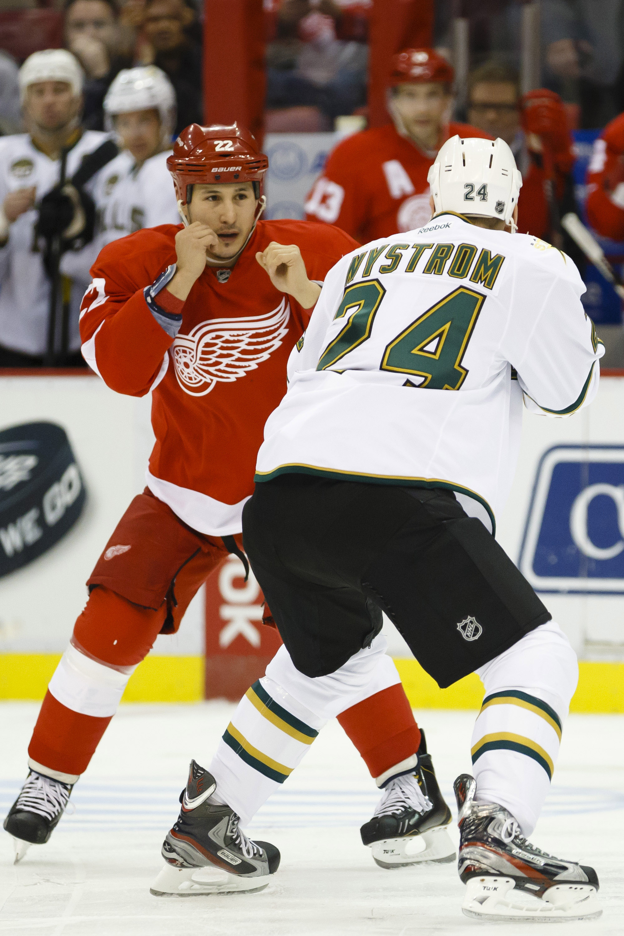Detroit's Jordin Tootoo fought off the opening faceoff twice earlier this season. (USA Today)