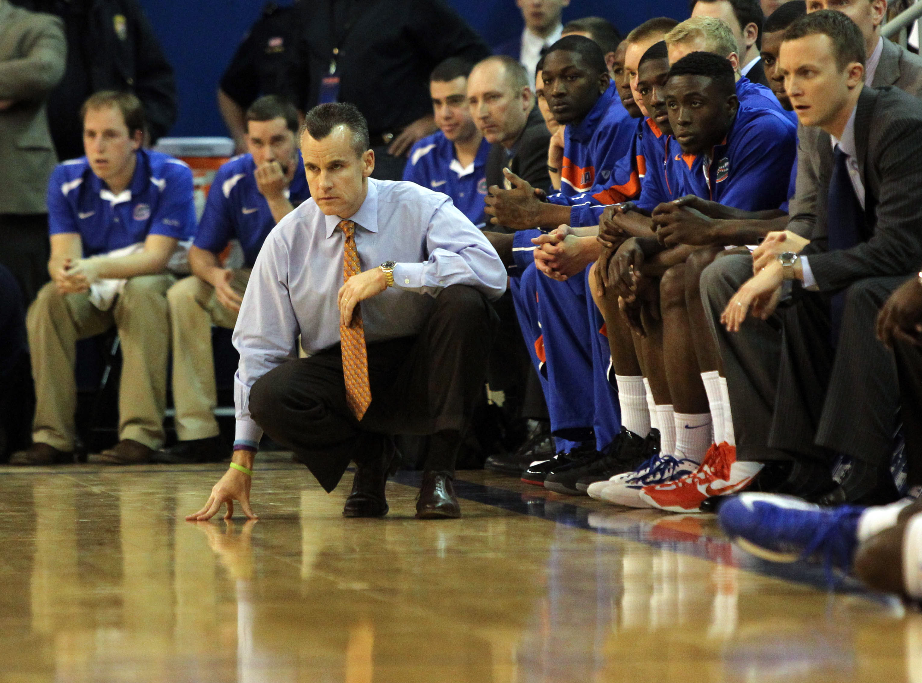 Billy Donovan looks on during the first half against Ole Miss. (Credit: USA Today Sports)