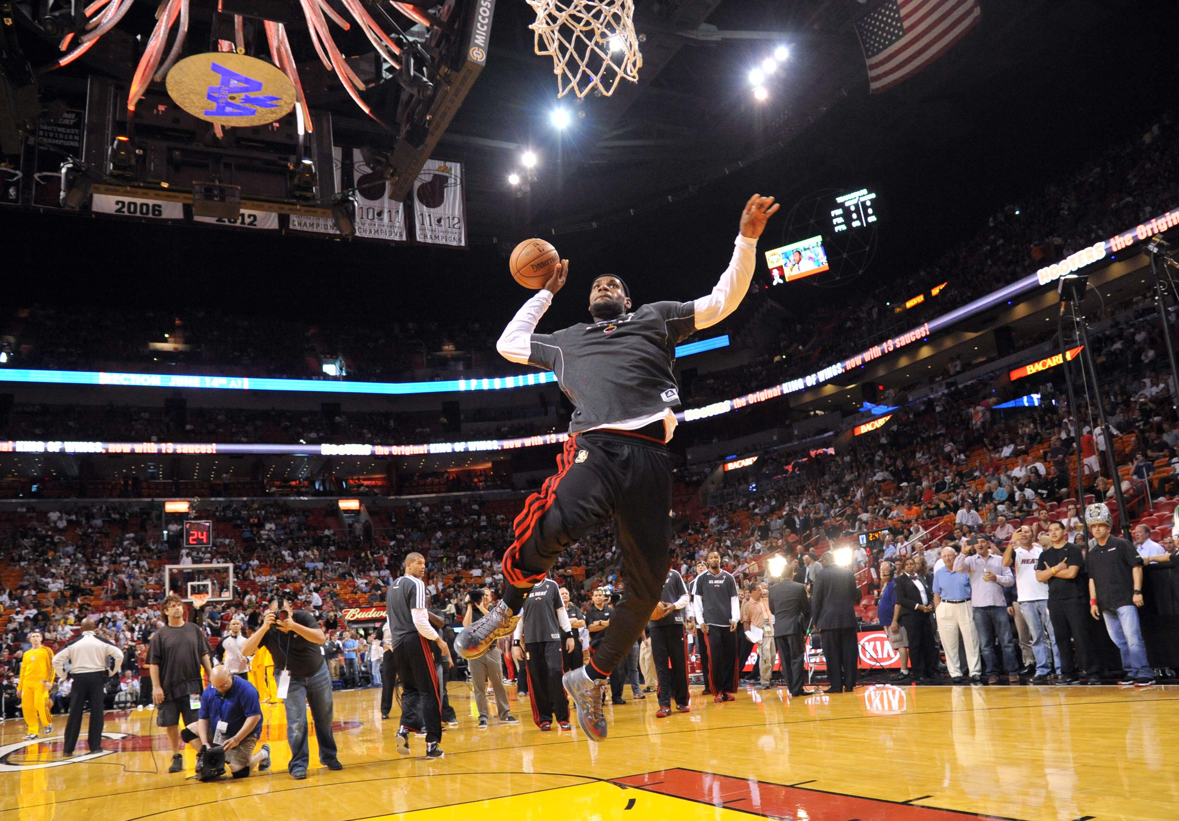 LeBron James' pregame dunks are just a sampling of what the Miami Heat offer. (USA Today Sports)