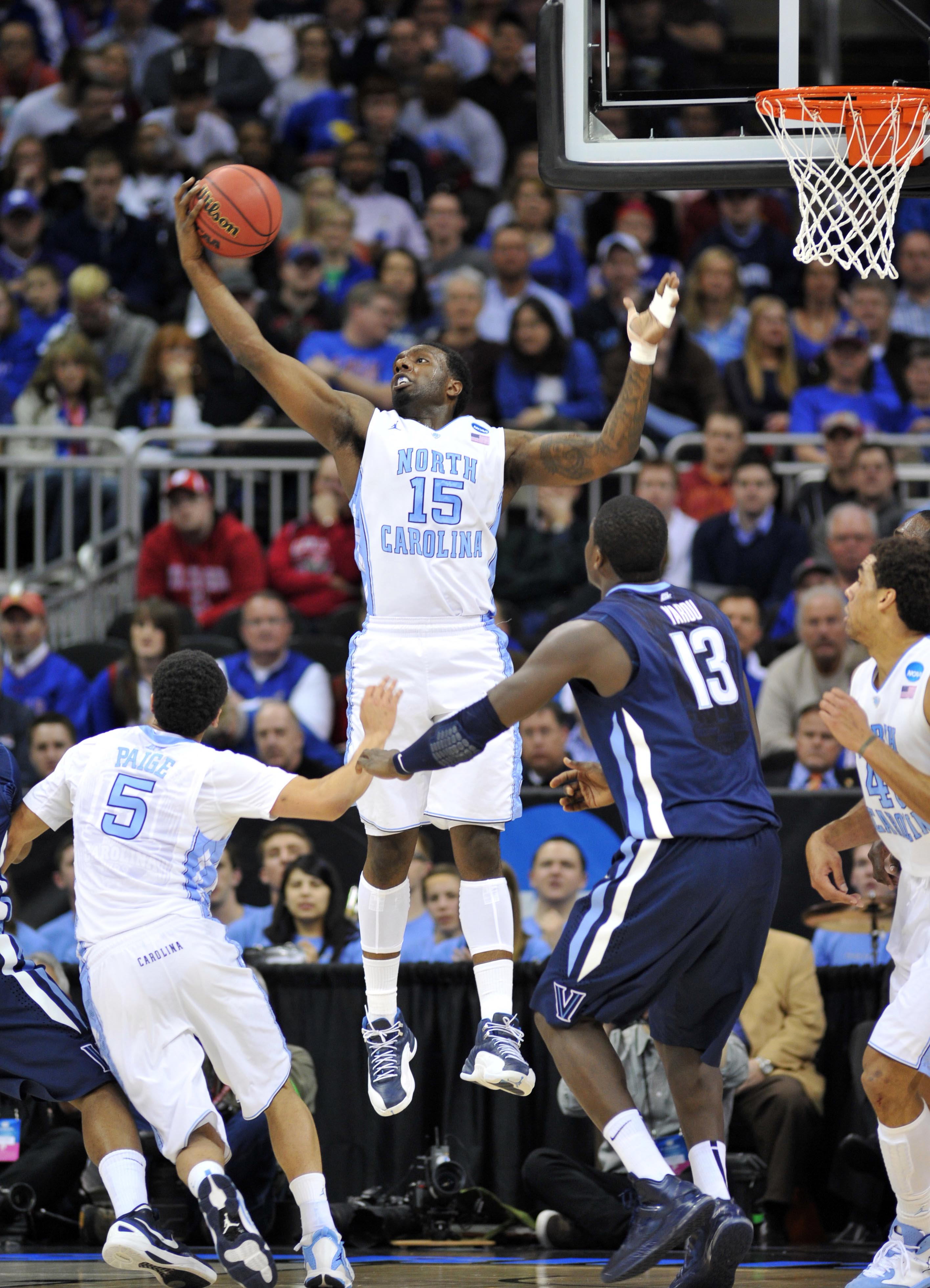 P.J. Hairston goes up for a rebound against Villanova. (USA Today)