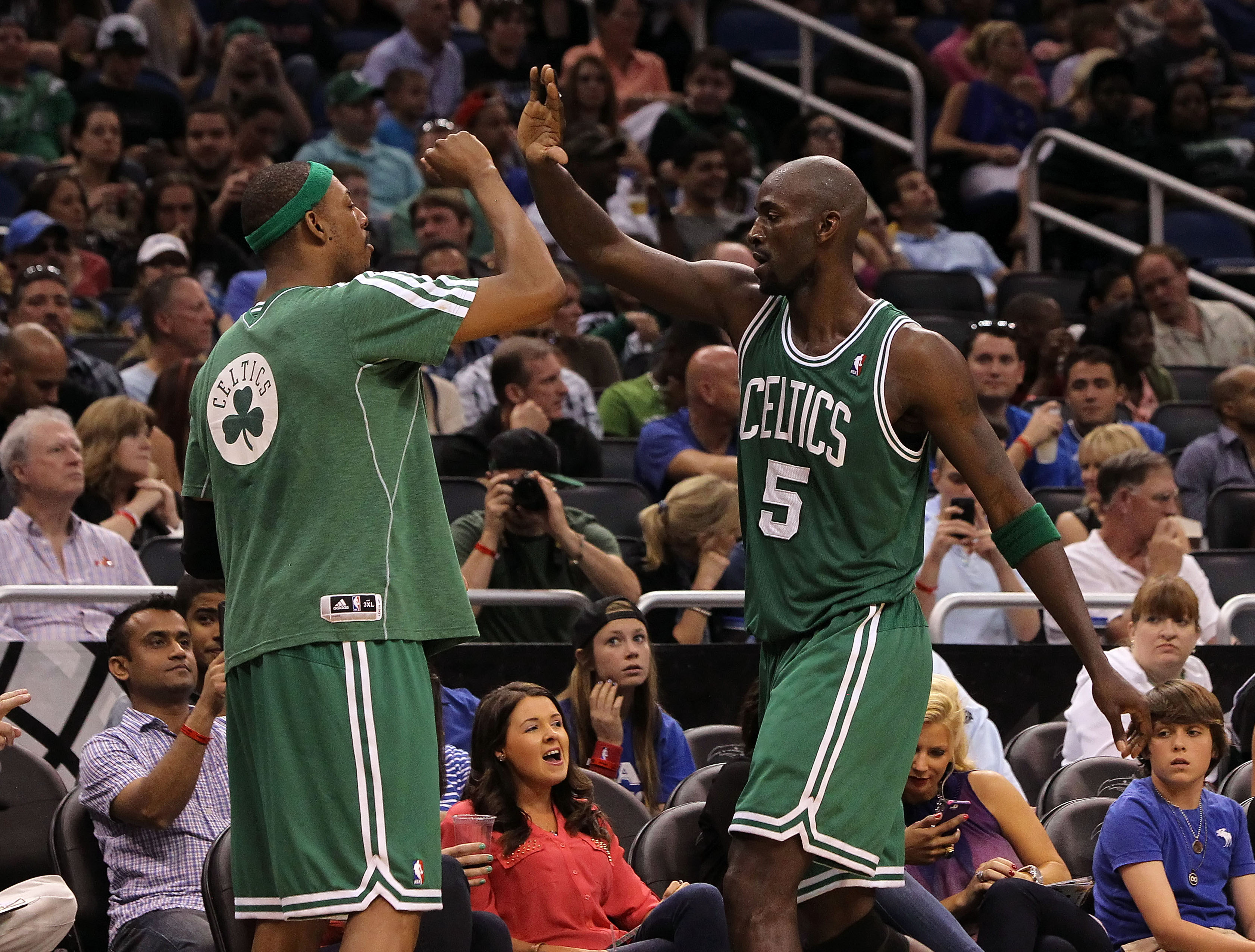 The Nets have discussed a possible deal to land Paul Pierce and Kevin Garnett. (USA Today Sports)