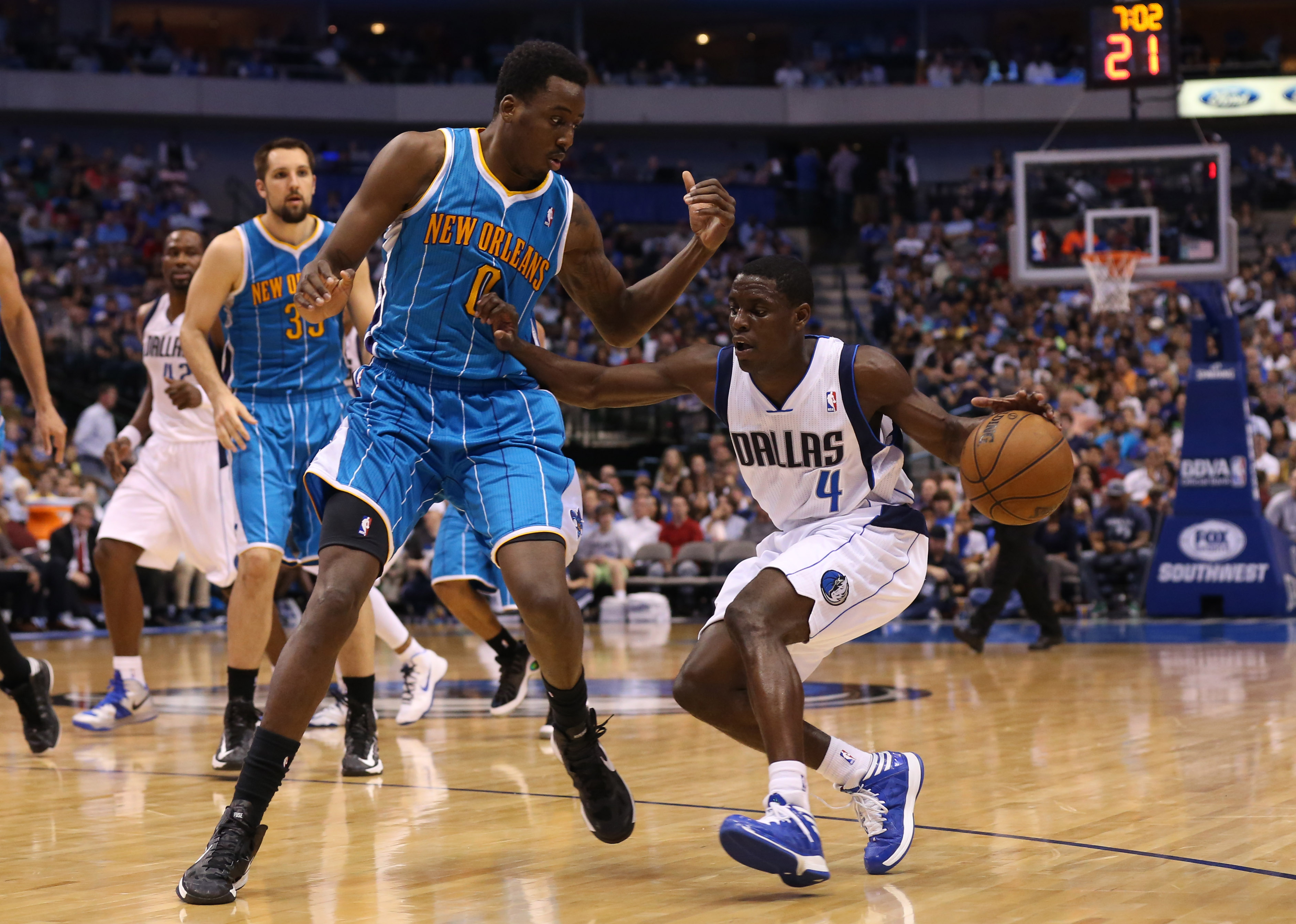 Darren Collison drives against New Orleans. (USA Today)