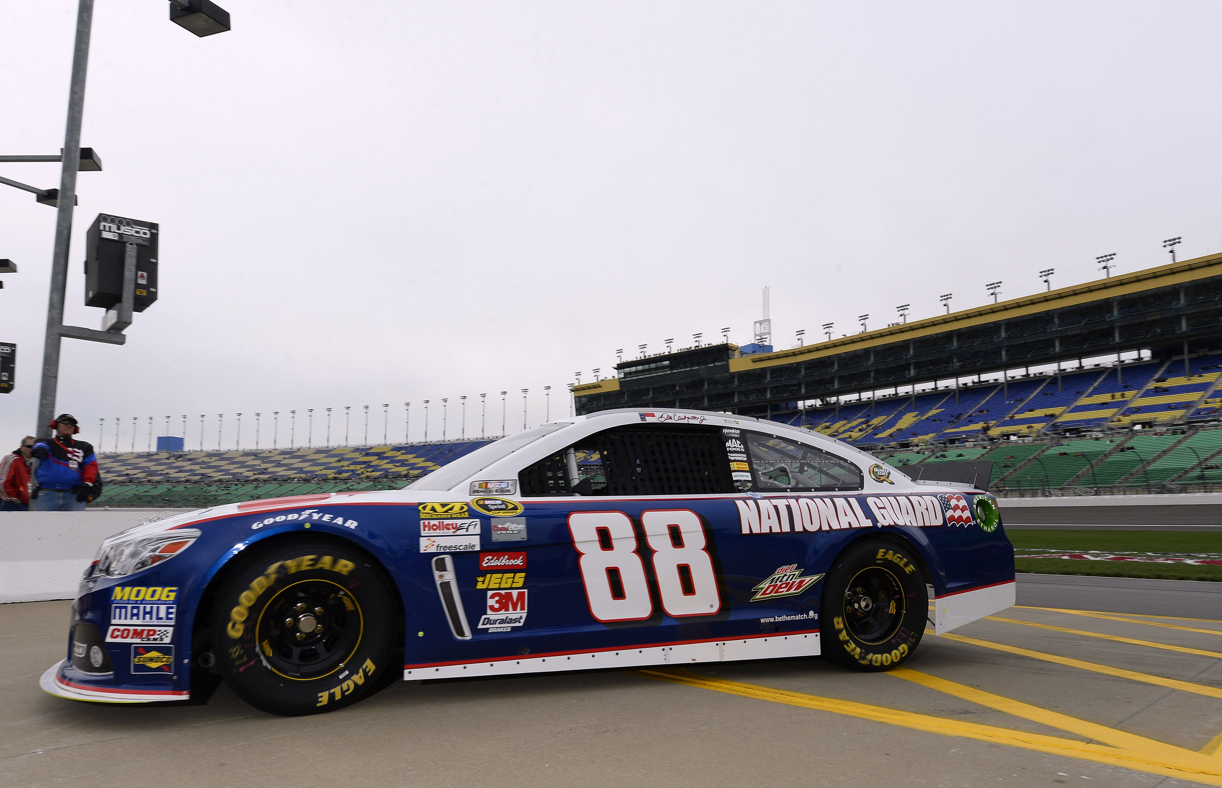 Dale Earnhardt, Jr.'s car at Kansas Speedway. (USA TODAY Sports)