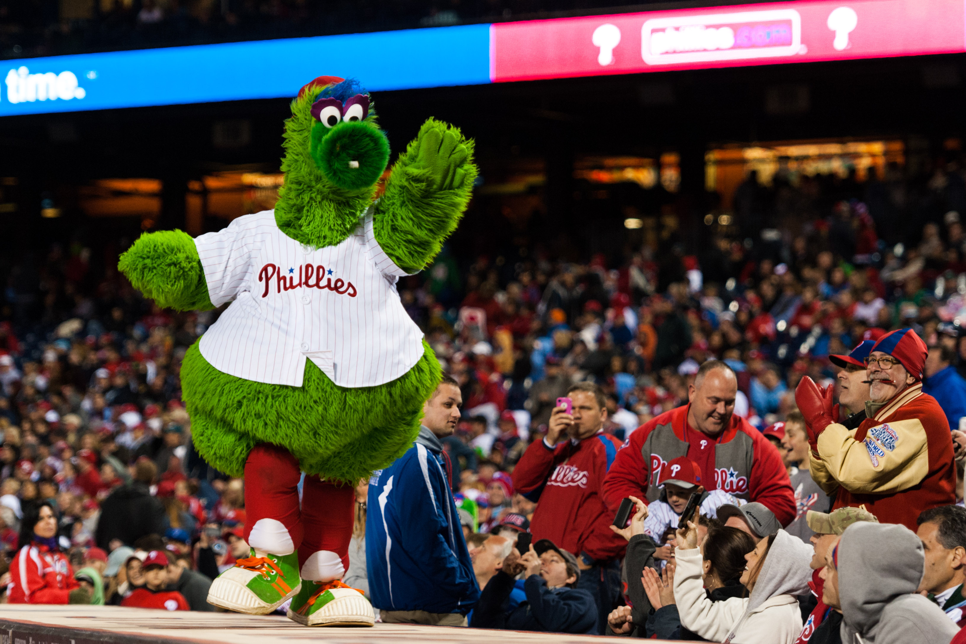 The Phanatic isn't the only one crazy about the Phillies. Philly's team could land a $5B TV deal. (USA Today Sports)