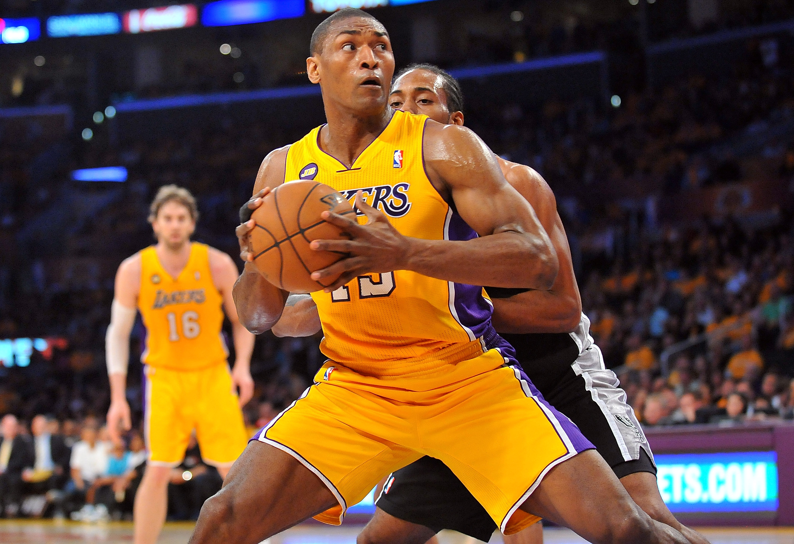 Metta World Peace will make $7.7 million during the 2013-14 season. (USA Today Sports)