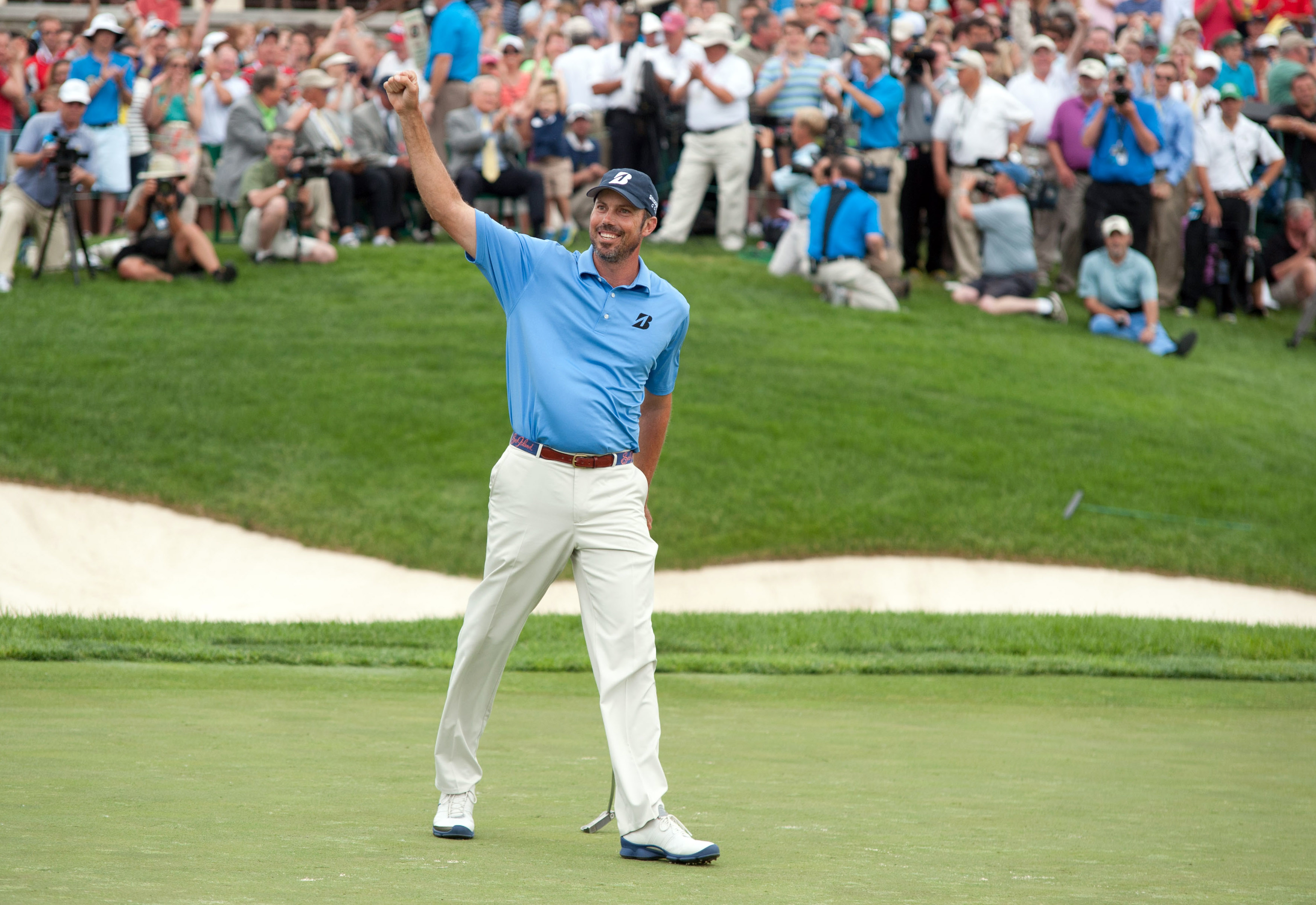 Matt Kuchar celebrates after winning the Memorial Tournament. (USA Today)