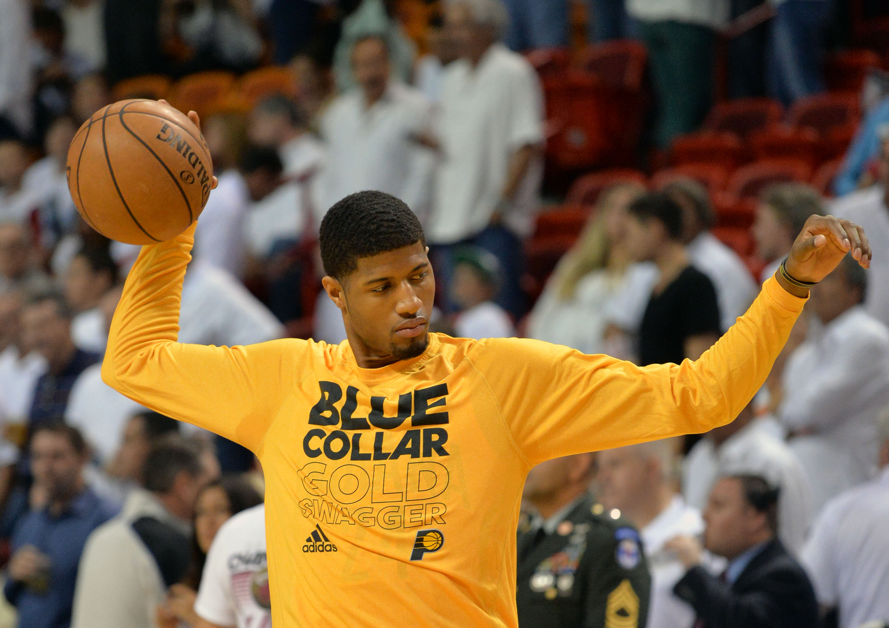 Paul George sounds like he's more than happy to continue his career with the Pacers. (USA Today Sports)