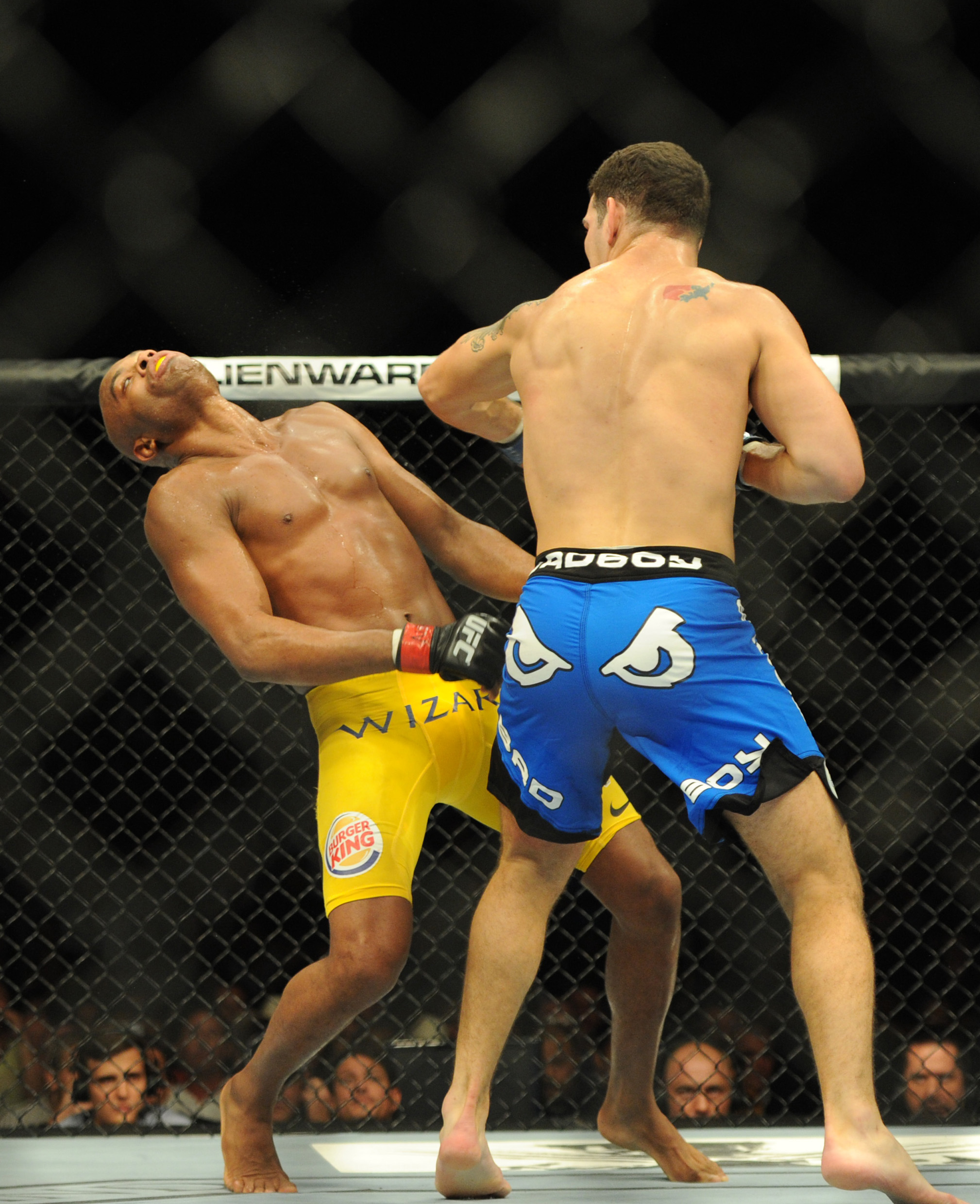 Will Johny Hendricks catch GSP like Chris Weidman caught Anderson Silva. (USA Today)